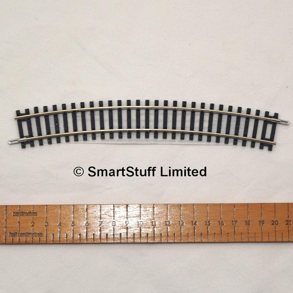 Hornby R608 Third Radius Single Curve Track Piece OO Gauge 1:76 Scale New